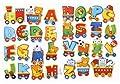Stickerkoenig Wandtattoo 3D Sticker Wandsticker Kinderzimmer - süße Buchstaben 2 Bögen A-Z - Deko auch für Fenster, Schränke, Türen etc von Stickerkoenig / Skins4u - TapetenShop