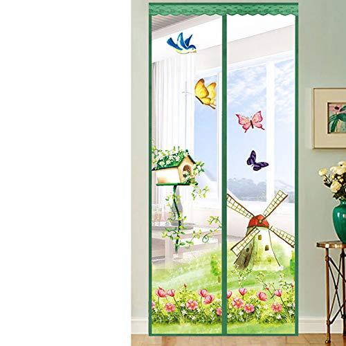 AINILX Magnetic Fly Screen Door Magnetischer Fliegen-Insektenschutzgitter Türgitter-Vorhang Einfache Montage ohne BohrenG_90x200cm