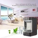 Lorenlli Cool-Down-Verdunstungsluftkühler Tragbarer Innenkühler mit Lüfter und Luftbefeuchter, der mit einem leisen 2-Gang-Lüfter betrieben wird