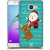 Head Case Designs Cookies Les Mésaventures De Père Noël Étui Coque en Gel molle pour Samsung Galaxy A5 (2016)