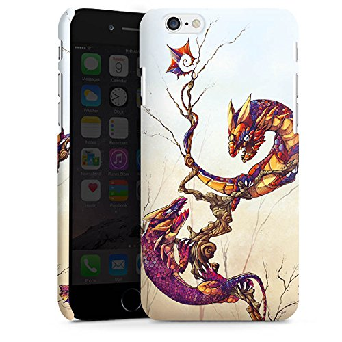 Apple iPhone X Silikon Hülle Case Schutzhülle Drachen Fabelwesen Traumwelt Premium Case matt