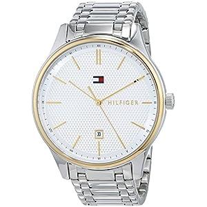 Tommy Hilfiger Reloj Analógico para Hombre de Cuarzo con Correa en Acero Inoxidable 1791491