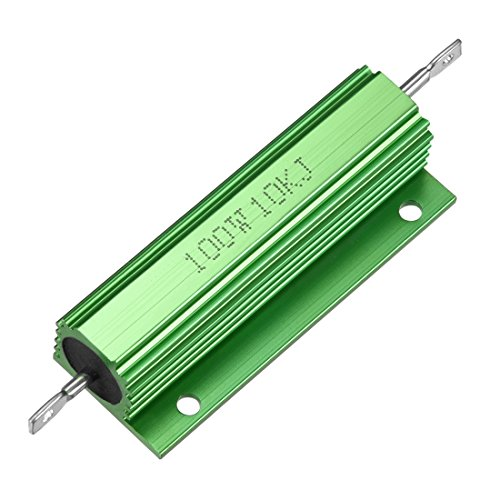 Sourcingmap Aluminium Fall Widerstand 100W 10K Ohm Wirewound grün für LED Ersatz Konverter 100W 10KRJ -