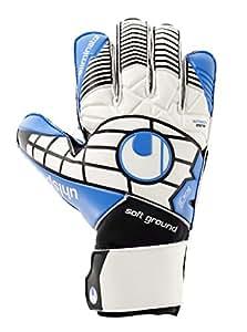 Guanti Uhlsport Eliminator Soft Pro, Unisex, Handschuhe ELIMINATOR SOFT PRO, weiß/Schwarz/energy blau