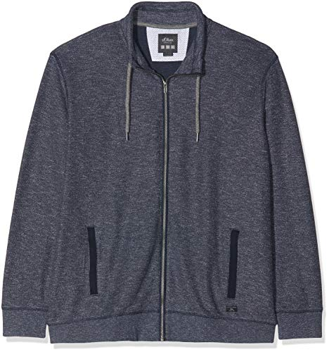 s.Oliver Big Size Herren 15.901.43.2685 Sweatshirt, Blau (Midnight Melange 57w0), XXX-Large (Herstellergröße: 3XL) - Melange Turtleneck