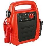 Cartrend 50243 Powerstation 13 Ah 4 in 1, Starthilfe, Kompressor, USB und 12 Volt, Taschenlampe, inklusive 12 und 230 Volt Adapter