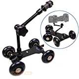 #6: SHOPEE NEW Black DSLR Skater Wheel Camera Truck Top Dolly Kit +7