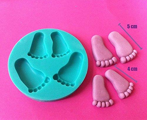 Füße Baby Geburt Mould Silikon Form Modellierwerkzeug Fondant Tortendeko Ausstecher - Silikonform Füße