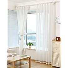 HOME UK- Un ensemble de 2 pcs Coréen Style Fils Cortin Blanc Pur Balcon Salon Chambre Rideau Produits Finis Semi-Shading ( taille : 3.5*2.7m (width*height) )