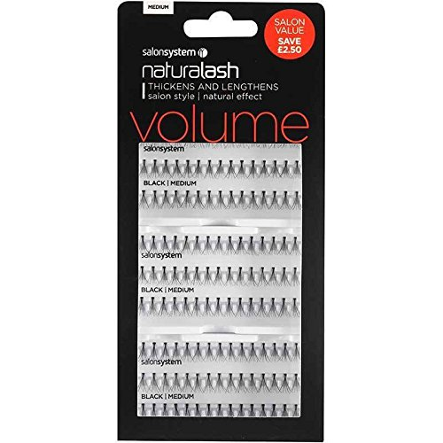 Salon System Individual Lashes SALON VALUE PACK Black Medium