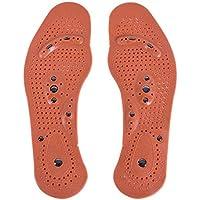 XIYAO Einlegesohlen Gel Magnetische Massage Fußpflege Schuheinlagen Einheitsgröße EU 35-40 für Frauen (Braun) preisvergleich bei billige-tabletten.eu