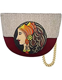 Women & Girls Casual College Office Stylish Latest Sling Bags Hand Painted Sling Bag