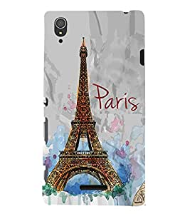 Eiffel Tower Painting 3D Hard Polycarbonate Designer Back Case Cover for Sony Xperia T3
