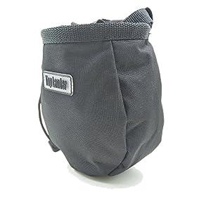 Top Lander Bolsas de magnesio para Escalada con Bolsillo y cinturón, Color Negro