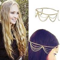 Fashion Gothic Women Ladies Crown Head Chain Headpiece Headdress Headwrap Hair Chain by Broadfashion
