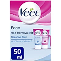 Veet Crema depilatoria facial - 2 x 50 ml