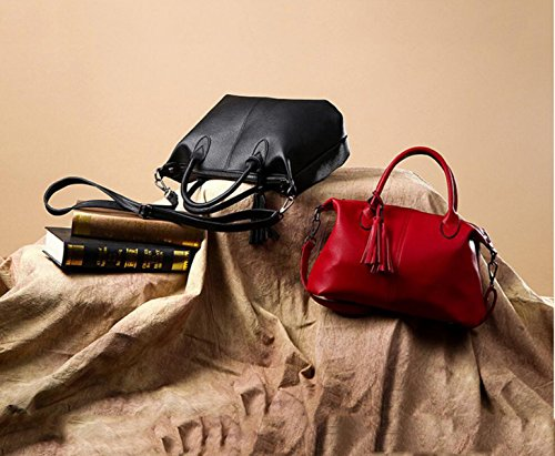 Borsa A Tracolla Della Borsa Del Cuoio Della Moda Europea E Americana La Signora Messenger Bag,Red red
