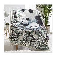 Sherpa Throws Animal Print Flannel Fleece Blanket 130X170 cm Size