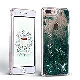 iPhone 7 Plus Hülle Glitter Liquide Handyhülle Schale Hardcase für iPhone 8 Plus - Mosoris Glitter Hülle Cool 3D Fließen Flüssig Bling Schwimmend Treibsand Stern Luxus Shiny Case für Apple iPhone 7 Plus / 8 Plus (5.5 Zoll) , Dunkelgrün
