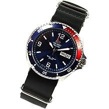 Orient 5Deep Mako II Buceo reloj Professional Diver Pepsi OTAN de piel
