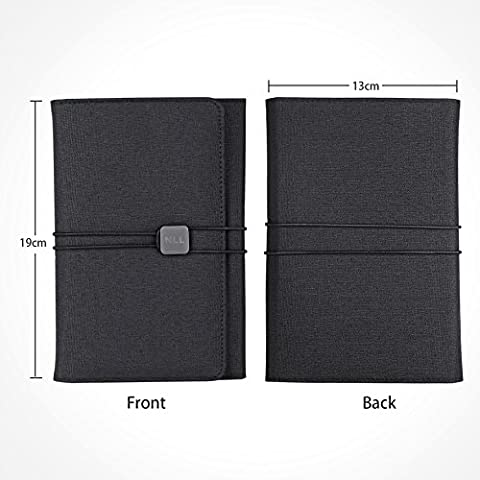 GEOTEL Notebook/ Daily Planner/ Organizer, Multi-function & Recyclable Fabric Cover