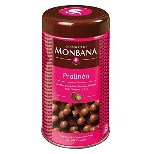Monbana Pralinéa , croustille de céréales enrobées de praliné et de chocolat au lait , 150 g