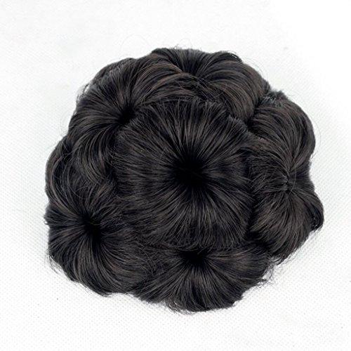 Longless Kugelkopf gefälschte Vertrag kopfschmuck Perücke Kreis weiblichen disc Haar clip Bud Kopf (Weibliche Kostüm Kaneki)