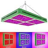 Esbaybulbs nuova 2000W Lampade per Piante Coltivzione Indoor/Serra/Crescere Box Spettro Completo Led Grow Light per Verdure e Fiori [Classe di efficienza energetica A+++]