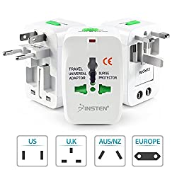 Universal World Wide Travel Charger Adapter Plug (White) By Technotech