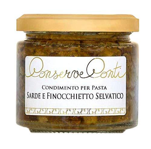 Condimento per pasta con sarde e finocchietto selvatico in olio extravergine d'oliva - vaso da ml. 212 - produzione artigianale