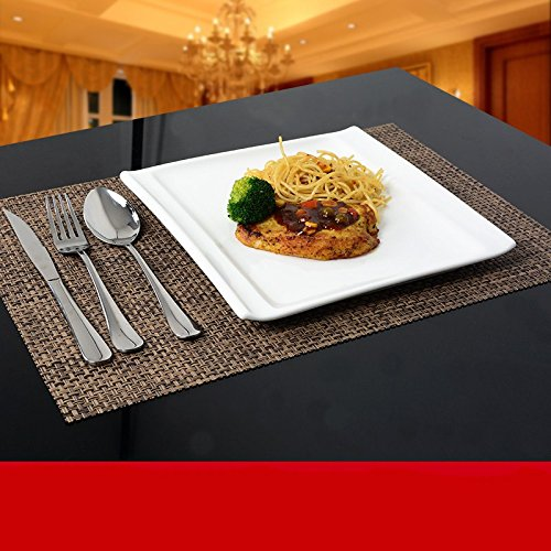 CHENXXOO-Western stoviglie/home/piastra piatto/food kit combo/creative i dischi in ceramica/bistecca posate vassoio impostato,piastra quadrata 5 piece (Cina Tazze Set)