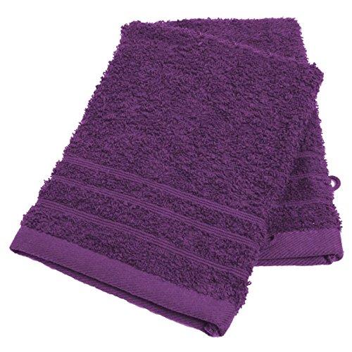 AC-Déco Gants de Toilette en Coton - Lot de 2 - Violet