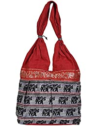 Craft Trade Multicolor Cotton Printed Hand Bag For Women And Girls