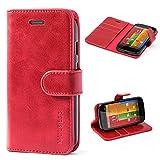 Mulbess Motorola Moto G Case Wallet, Leather Flip Phone