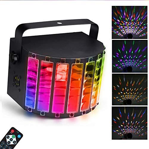 uchtung, LED Party Disco Licht, 7 Lichfarben Party Lampe mit Fernbedienung, DMX Musikgesteuert Lichteffekt LED als Partylicht für Karaoke, Geburtstag und Halloween ()