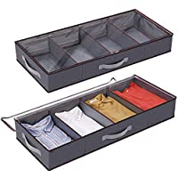 Lifewit Under Bed Storage, Large Adjustable Dividers Clothes Organizer Storage