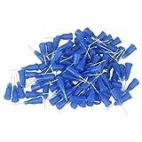 WEONE Blau 1/2 Zoll 22Ga Kunststoff-Spirale Stecker Dosiernadeln Mit PP stumpfe Spitze Nadel (100 Stück)