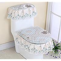 MEI Estera antideslizante baño baño de tres piezas asiento de inodoro tres piezas cremallera asiento del inodoro tapa del tanque de agua de encaje ( Color : F )