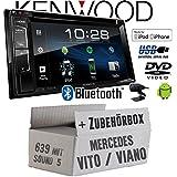 Mercedes Vito/Viano 639 - Autoradio Radio Kenwood DDX318BT - 2DIN Bluetooth   DVD   USB   CD   MP3 - Einbauzubehör - Einbauset