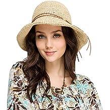 Urban GoCo Sombrero del sol Plegable Flexible para la Playa en el Verano para Mujeres