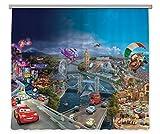 AG Design Gardinen – Vorhänge – Fotogardinen - Kinderzimmer Disney Cars – 280 x 245 cm – 2 Teile - FCS XXL 7026