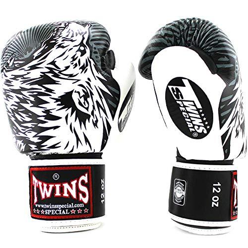 Twins Boxhandschuhe, Fbgvl3 50 Wolf, schwarz-Weiss Größe 16 Oz (Kaufen Sie Weiße Handschuhe)