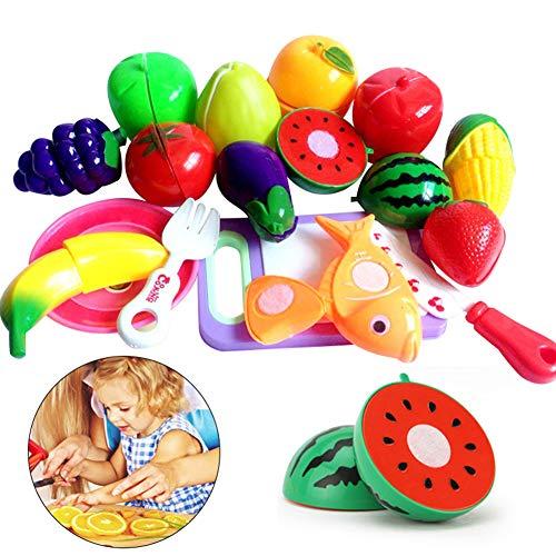 (heDIANz Kinder Kinder Obst Gemüse Lebensmittel Pretend Rollenspiel Schneiden Spielzeug Geschenk)