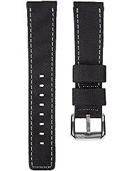 Bracelet de montre remplacement plongée nylon imperméable par ZULUDIVER, Noir et Gris, 22mm