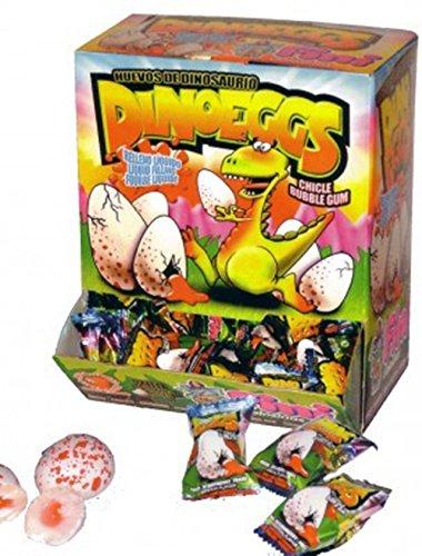 Preisvergleich Produktbild 10x Dino Ei,  flüssig gefüllter Kaugummi,  Dino Party,  Mitgebsel,  Leckerei für die Mottoparty Dinosaurier