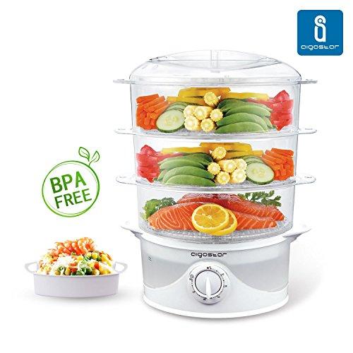 Aigostar-Fitfoodie-30CFO-Vaporera-para-cocinar-al-vapor-alimentos-Comida-saludable-Diferentes-niveles-independientes-Temporizador-libre-de-BPA-Diseo-exclusivo