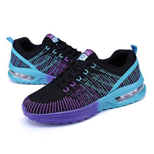 Uomo Moda Scarpe sportive traspirante Scarpe da corsa Scarpe casual formatori Aumenta le scarpe euro DIMENSIONE 39-44 Purple