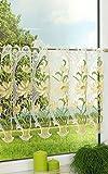Scheibengardine aus Plauener Spitze - Blumenpracht