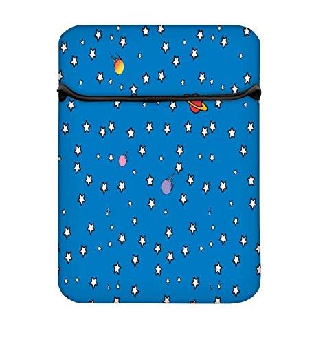 Snoogg Sterne Telefon 25,4cm einfachen Zugang Gepolstertes Laptop Case Cover Flip Sleeve Tasche