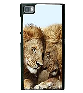 Lion Pair 2D Hard Polycarbonate Designer Back Case Cover for Xiaomi Redmi Mi3